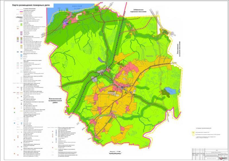 3 Карта размещения пожарных депо_1