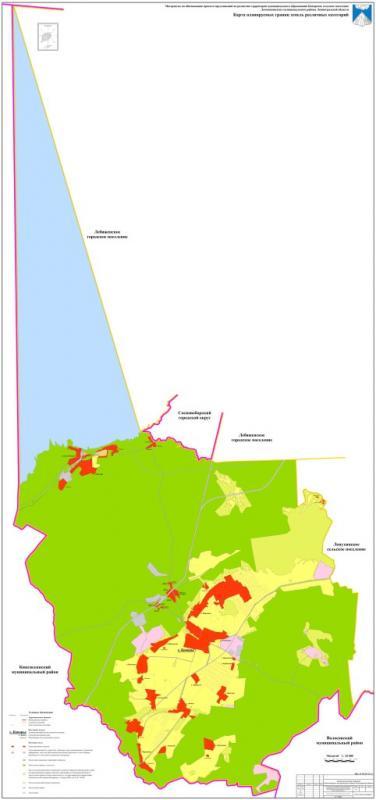 7. Карта планируемых границ земель различных категорий