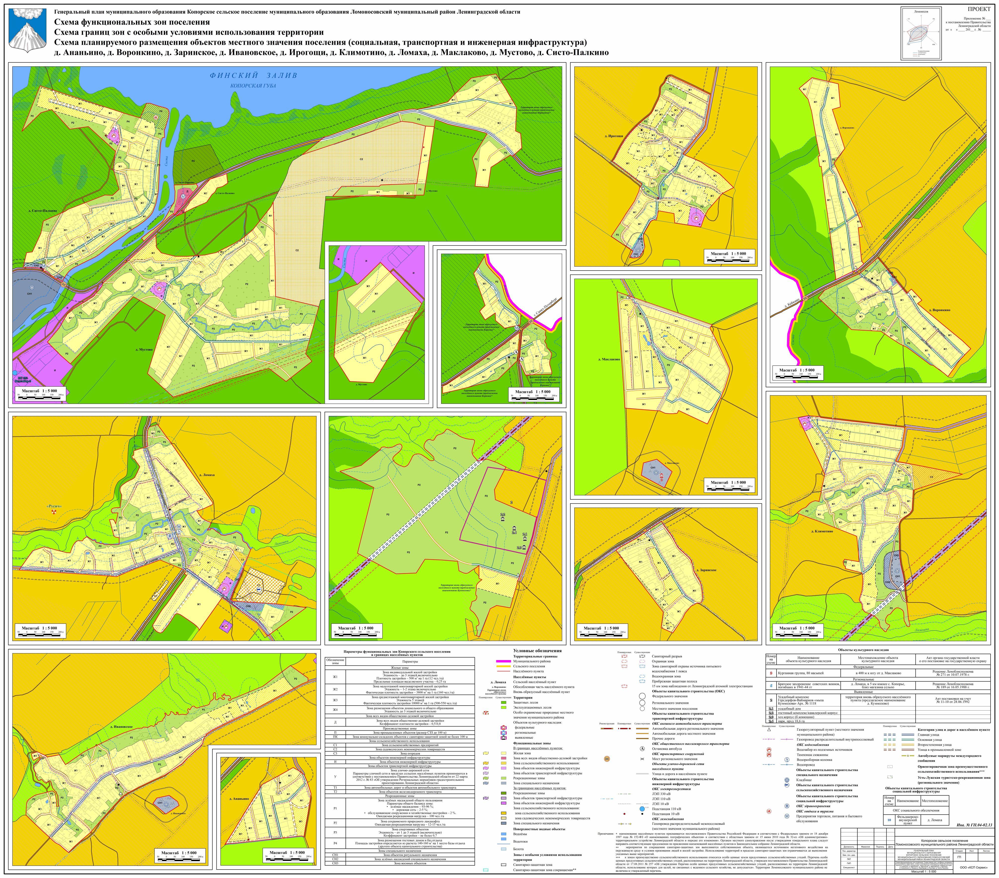 Схема функциональных зон поселения